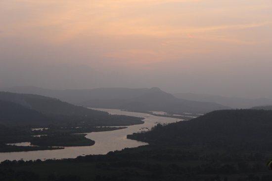 Vashishti River: Vashishthi river after sunset