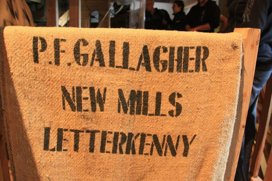 Newmills Corn and Flax Mill: Burlap bag the grain was put into