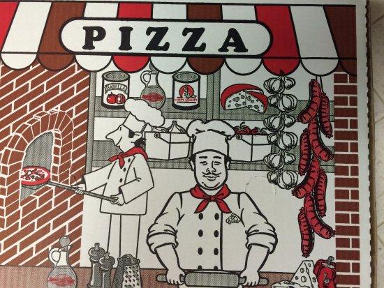 Mona's Italian Restaurant: Classic Pizza Box