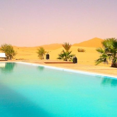 Fes, Morocco: swimming pool in desert