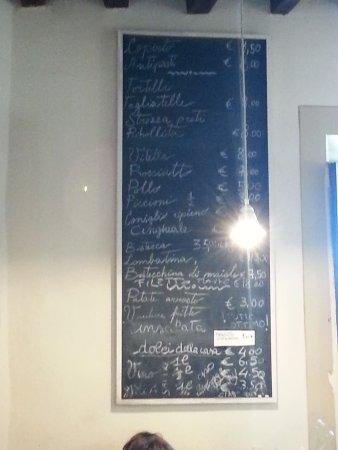 Vicchio, Italy: il menu: prezzi onesti
