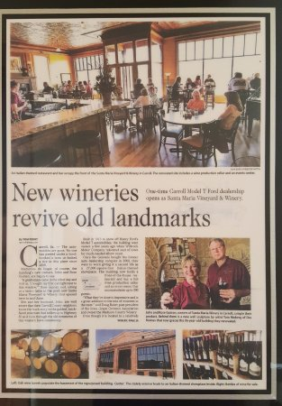 Carroll, IA: winery article
