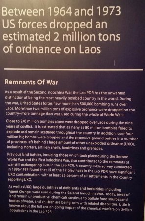 UXO Laos Visitor Center: Laos is the most heavily bombed country in the world.