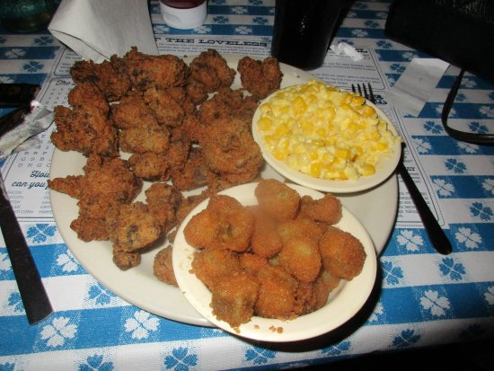 Chicken Gizzards Fried Okra The Awesome Creamed Corn Picture Of