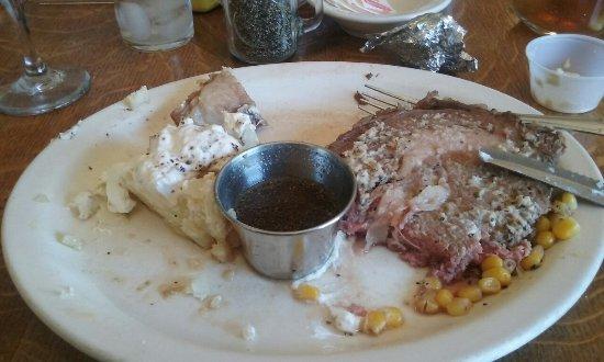 Martinsdale, MT: Half way thru the meal.