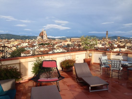 The Westin Excelsior Florence: suite terrace view