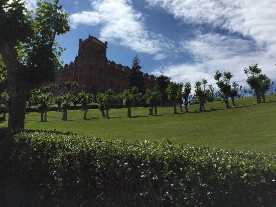 universidad pontificia jardines exteriores