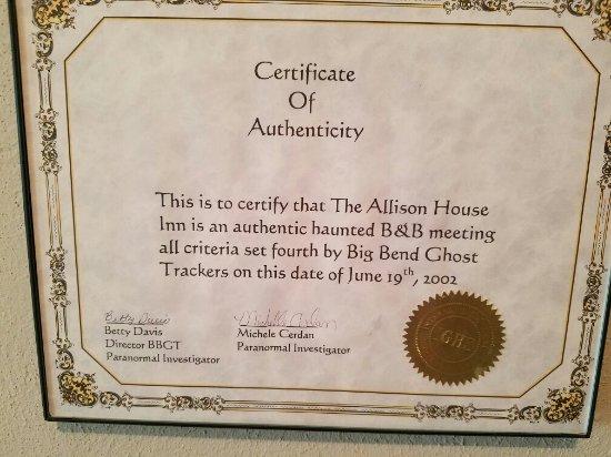 Allison House Inn: 20160615_173234_large.jpg