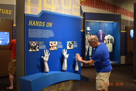 Pro Football Hall of Fame: Hands on exhibit