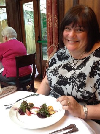 Upperlands, UK: Enjoying Beetroot and Goats Cheese Starter