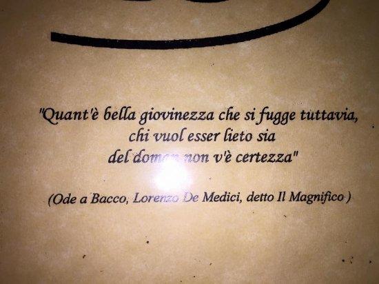 Dal menu picture of lo specchio di diana nemi tripadvisor - Lo specchio di diana nemi ...
