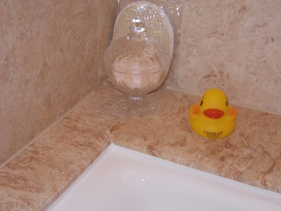 A rubber ducky waiting at the bath tub - Picture of Conrad ...