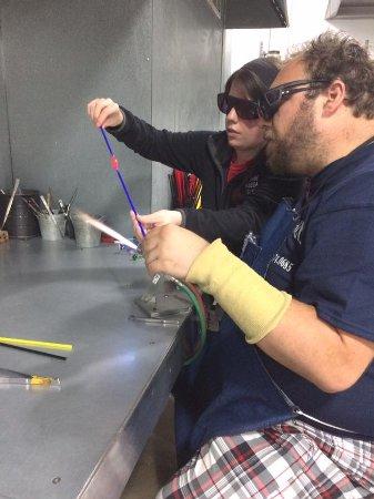 Corning, Nova York: Making my glass sea slug