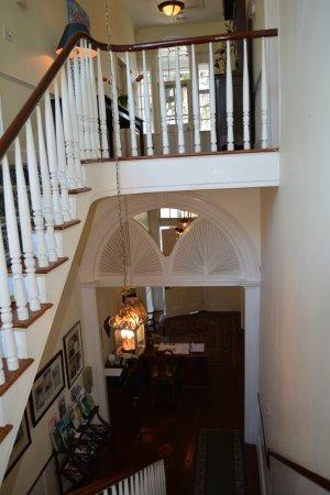 The Rhett House Inn: stairway up to room #3
