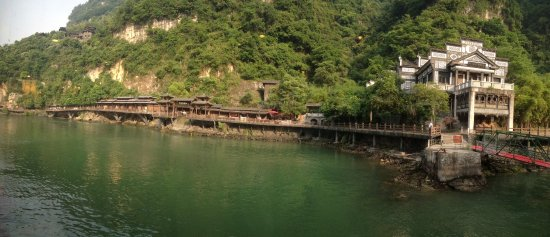 Yichang, China: View from the ship