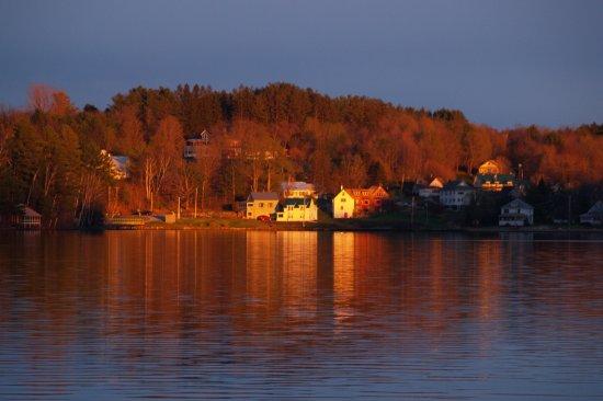 Sunset view of Wilson Lake Wilton, Maine