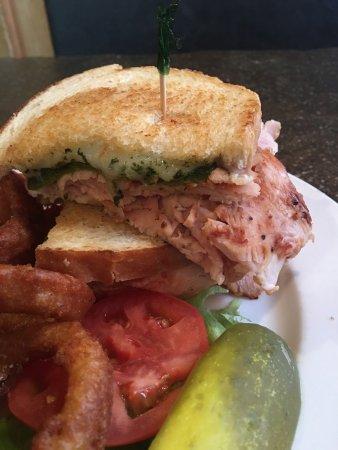 Eagar, AZ: Sandwich is full of turkey!! Loved the pickle on the side!