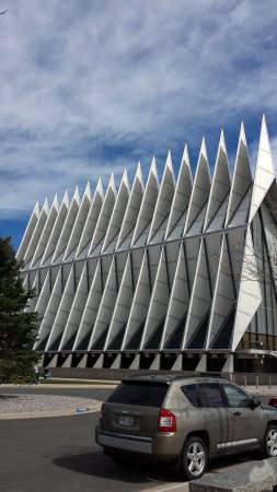United States Air Force Academy: Side view of the Chapel