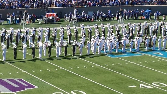 United States Air Force Academy: Football halftime--the AF band was great!