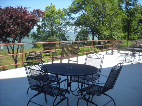 Lake House Restaurant Patio With View Of Erie And Downtown Cleveland To The Left