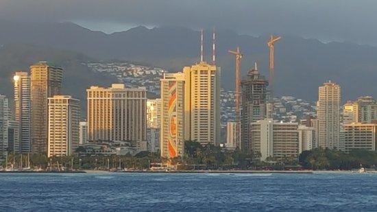 Star of Honolulu - Dinner and Whale Watch Cruises: Honalulu skyline
