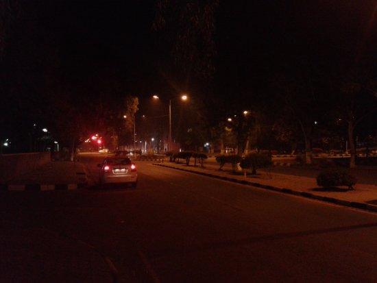 Shivalik View: chandigarh city at night
