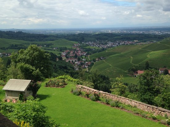 Durbach, Germany: The view of the Rhine Valley from the castle
