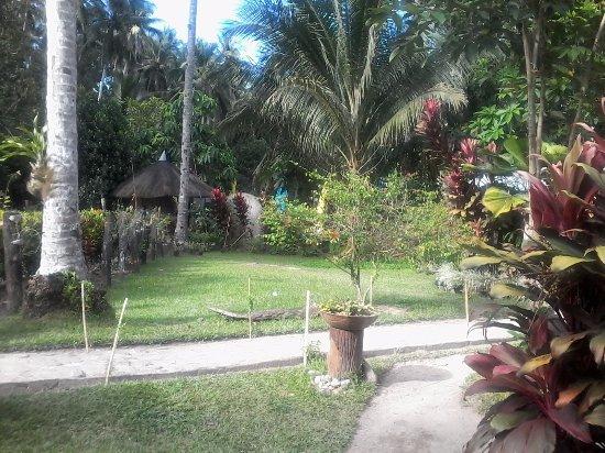 Abuyog, Filipinas: Garden area.