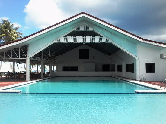 Patio Victoria Tacloban: Foreground is the kiddie pool, going inward to the adult pool and function rooms.