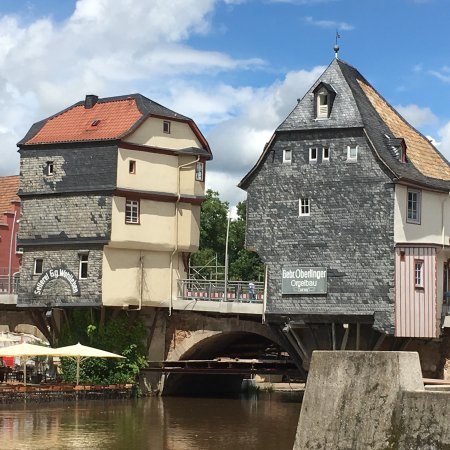 Bad Kreuznach, Alemania: Charming Bridge Houses over the Nahe.