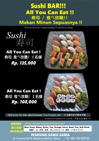 how to prepare for all you can eat sushi
