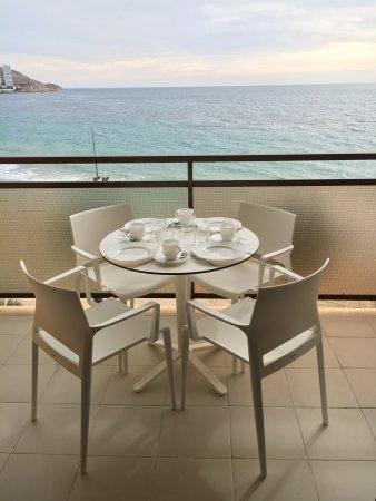 Don César Apartments: Vista playa desde las habitaciones