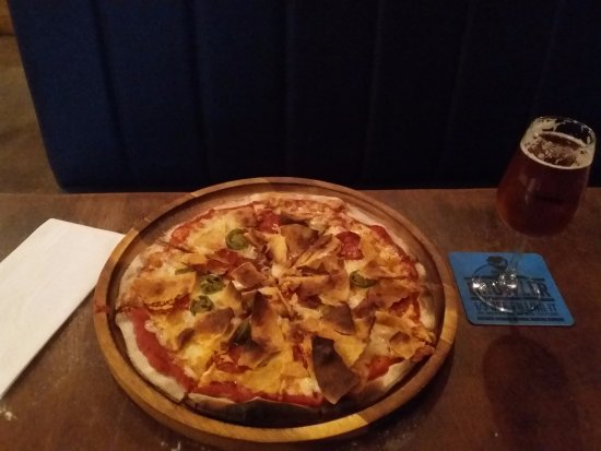 Brewdog: Spicy pizza with gangster frog