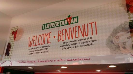 Sign at I lovegetarian