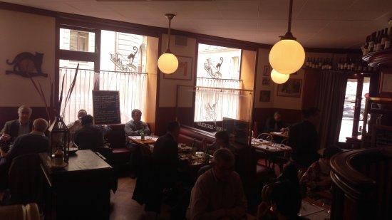 Dining Area Picture Of Au Chat Noir Lausanne Tripadvisor