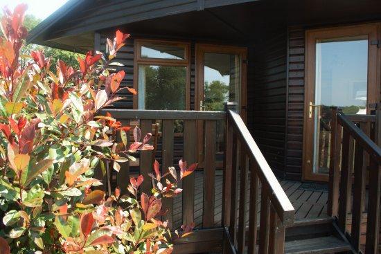 Horham, UK: Athelington Lodge veranda