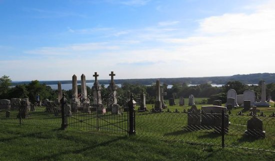 Port Tobacco, MD: Historic Cemetery and the Potomac River