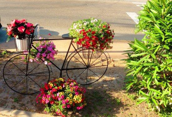 Brisas del Mar: Das Fahrrad müsst ihr finden, dann habt ihr das Restaurant gefunden.