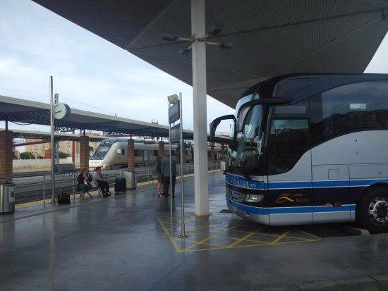 Estacion Intermodal de Almeria : Train and Bus at the estacion