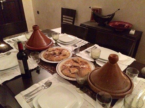 Riad Atman : our dinner