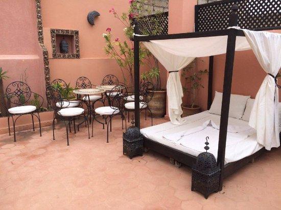 Riad Atman : the upper terrace