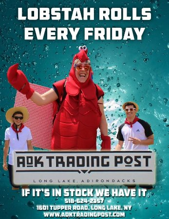 ADK Trading Post: Lobster Rolls Every Friday in the summer