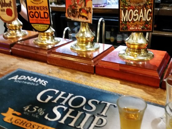 The Woodbine Inn: A selection of the ales on offer