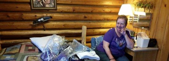 Buffalo, WY: Cabin interior, rustic.