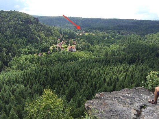 Tisa, República Tcheca: pozice hotelu uprostřed kopců