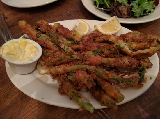 ‪‪Albany‬, كاليفورنيا: Deep fried asparagus‬