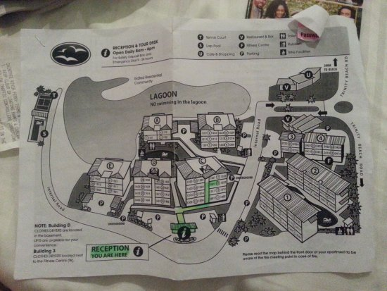 Blue Lagoon Resort : Map of Hotel grounds