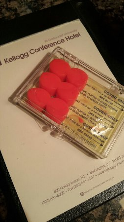 Kellogg Conference Hotel at Gallaudet University: Half of my earplugs were used during my stay