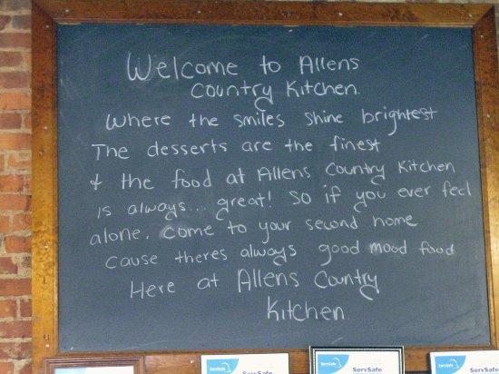 Allen's Country Kitchen: Good mood food