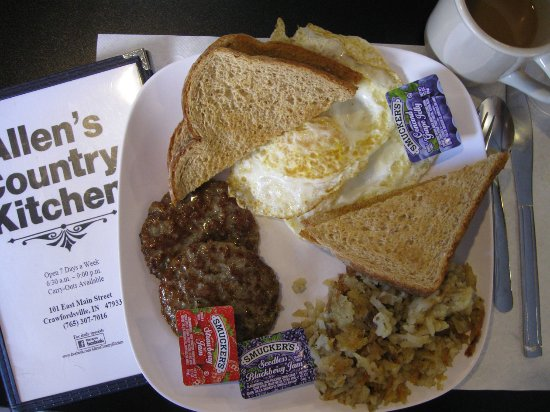 Classic Breakfast Picture Of Allen S Country Kitchen Crawfordsville Tripadvisor